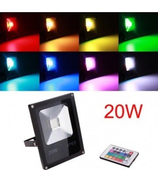 LED Bouwlamp RGB - 20 Watt - Plat