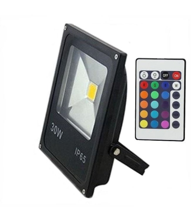 LED Bouwlamp RGB - 30 Watt - Plat