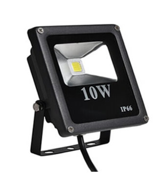 LED Bouwlamp Puur Wit - 10 Watt  - Plat