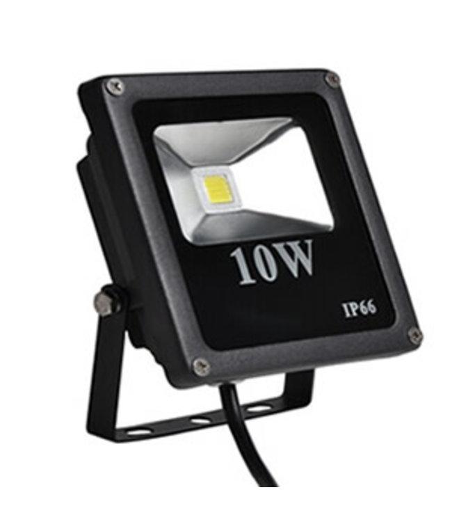 LED Bouwlamp Puur Wit - 10 Watt  - Plat