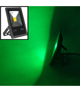 LED Bouwlamp Groen - 10 Watt  - Plat