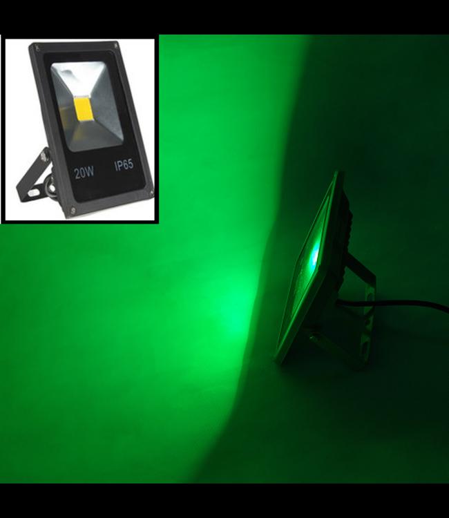 LED Bouwlamp Groen - 10 Watt  - Plat