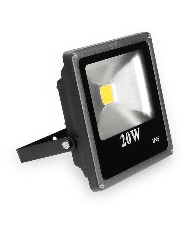 LED Bouwlamp Puur Wit - 20 Watt  - Plat