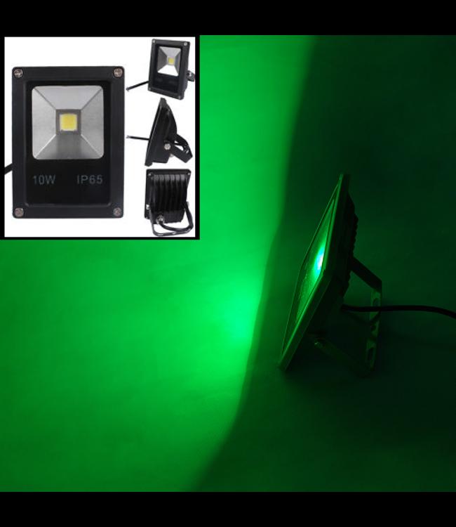 LED Bouwlamp Groen - 20 Watt  - Plat