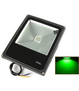 LED Bouwlamp Groen - 30 Watt  - Plat