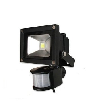 LED Bouwlamp Puur Wit - 10 Watt  - Sensor