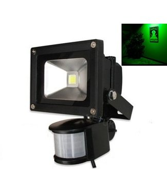 LED Bouwlamp Groen - 10 Watt  - Sensor