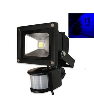 LED Bouwlamp Blauw - 10 Watt  - Sensor
