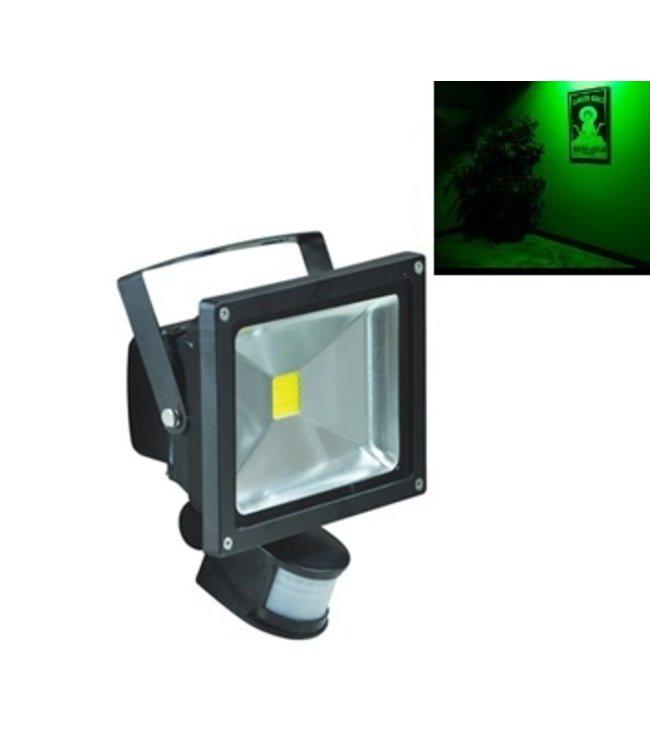 LED Bouwlamp Groen - 30 Watt  - Sensor
