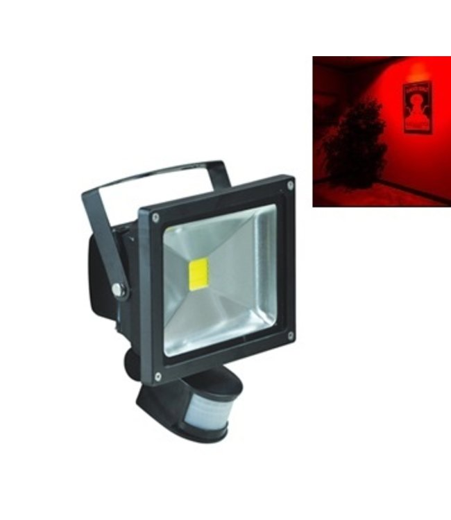 LED Bouwlamp Rood - 30 Watt  - Sensor