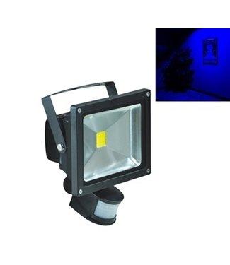 LED Bouwlamp Blauw - 50 Watt  - Sensor