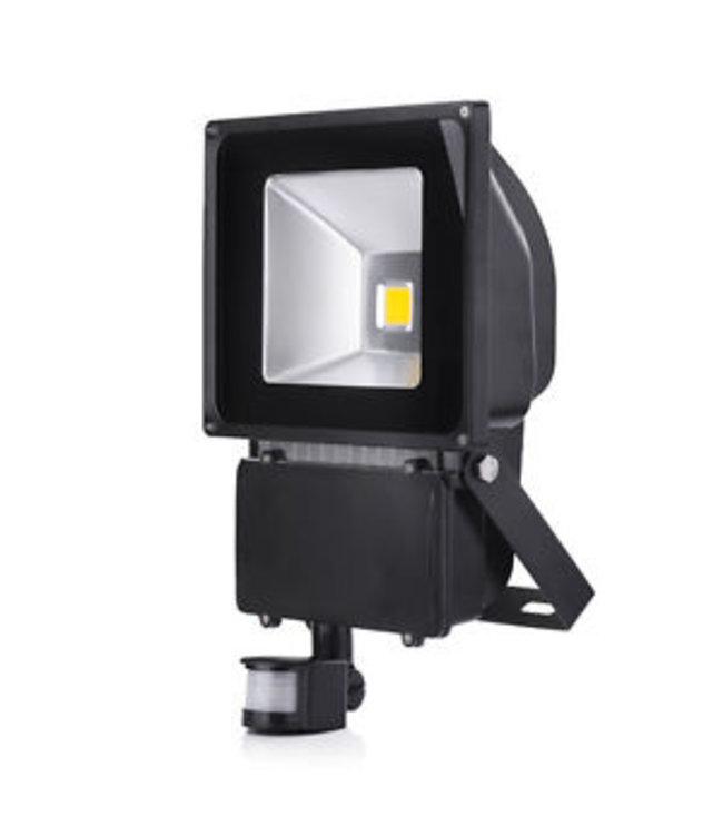 LED Bouwlamp Warm Wit - 100 Watt  - Sensor