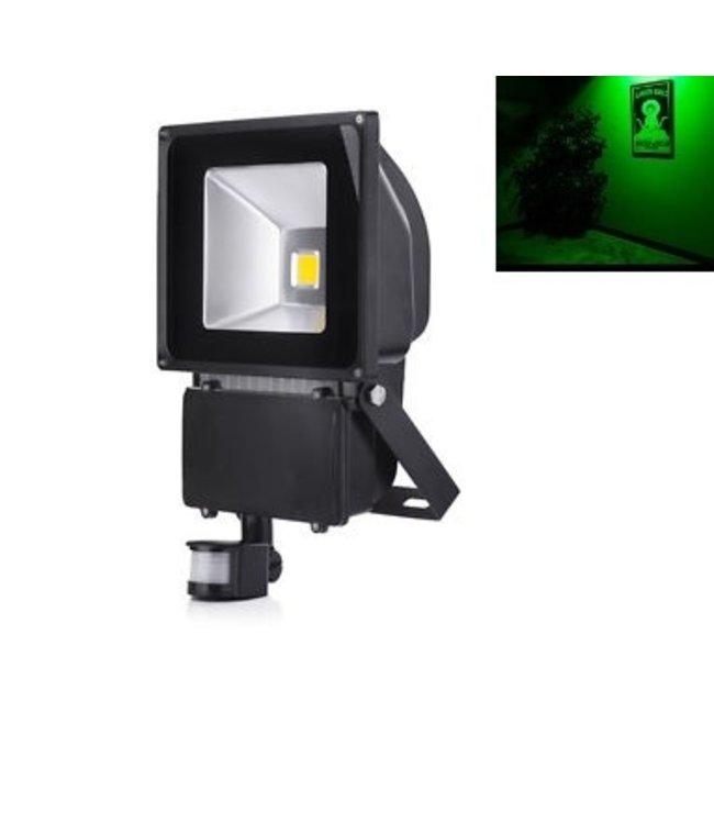 LED Bouwlamp Groen - 100 Watt  - Sensor