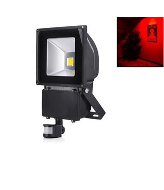 LED Bouwlamp Rood - 100 Watt  - Sensor