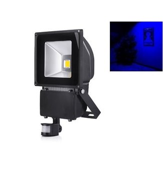 LED Bouwlamp Blauw - 100 Watt  - Sensor