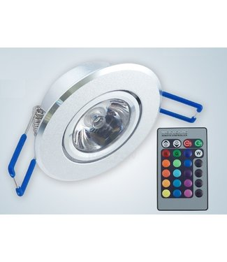 LED Spot RGB - 3 Watt - Inbouw