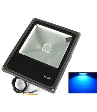 LED Bouwlamp Blauw - 30 Watt  - Plat