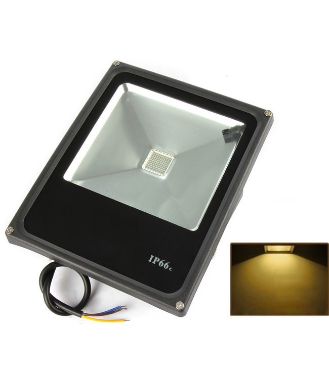 LED Bouwlamp Geel - 30 Watt  - Plat