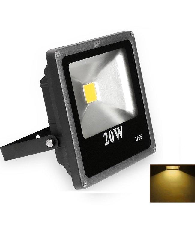LED Bouwlamp Geel - 20 Watt  - Plat