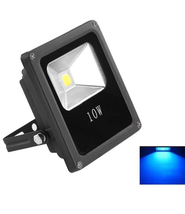 LED Bouwlamp Blauw - 10 Watt  - Plat