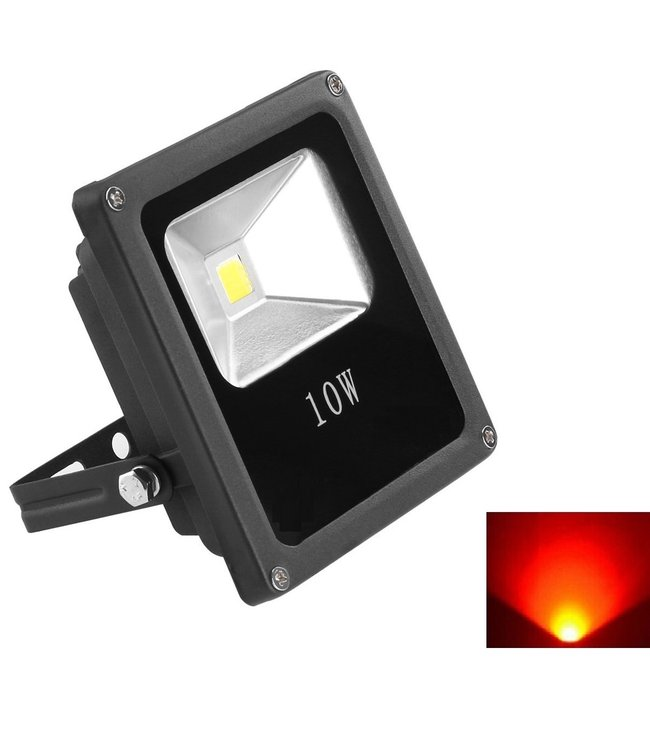 LED Bouwlamp Rood - 10 Watt  - Plat
