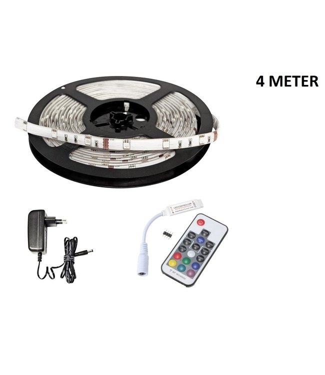 LED Strip RGB - 4 Meter - 30 LEDS Per Meter -  Waterdicht