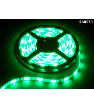 LED Strip Groen - 5 Meter - 60 LEDS Per Meter - Waterdicht