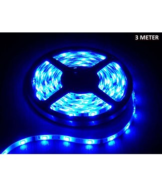 LED Strip Blauw - 3 Meter - 60 LEDS Per Meter - Waterdicht