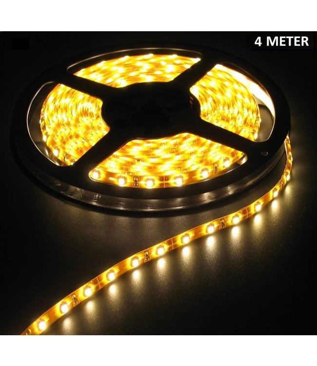 LED Strip Warm Wit - 4 Meter - 60 LEDS Per Meter - Waterdicht