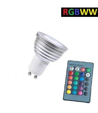 LED Spot RGB + Warm Wit - 5 Watt - GU10