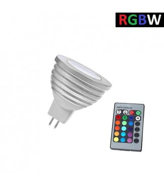 LED Spot RGB + Koel Wit - 5 Watt - MR16