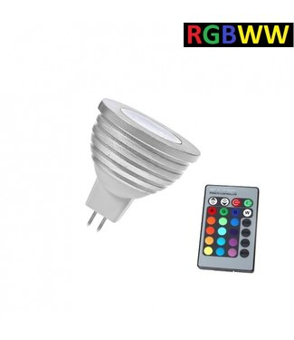 LED Spot RGB + Warm Wit - 5 Watt - MR16
