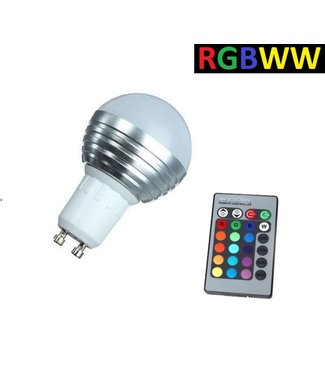 LED Bollamp RGB + Warm Wit - 5 Watt - GU10