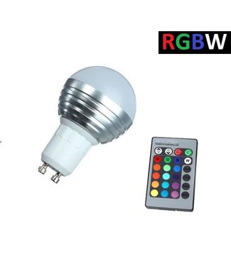 LED Bollamp RGB + Koel Wit - 5 Watt - GU10