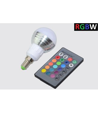 LED Bollamp RGB + Koel Wit - 5 Watt - E14