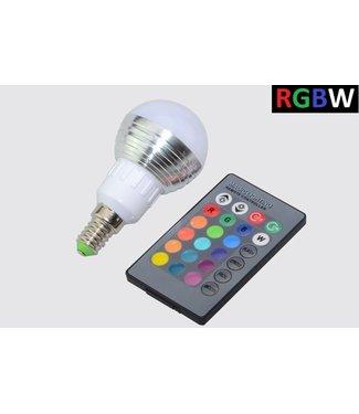 LED Bollamp RGB + Koel Wit - 5 Watt - E14