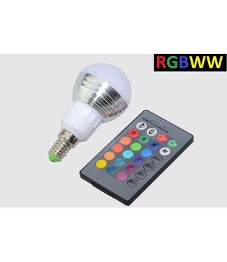 LED Bollamp RGBWW - 5 Watt - E14