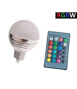 LED Bollamp RGB + Koel Wit - 5 Watt - MR16