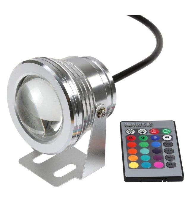 LED Bouwlamp RGB - 10 Watt - Rond - 230 Volt