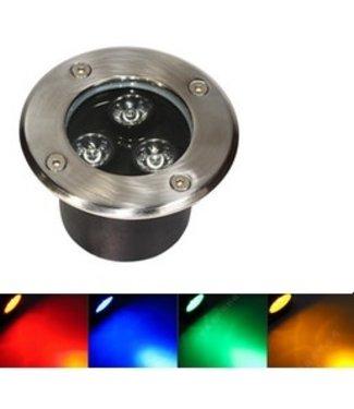 LED Grondspot  RGB - 9 Watt - Inbouw - 12 Volt - Met Afstandbediening