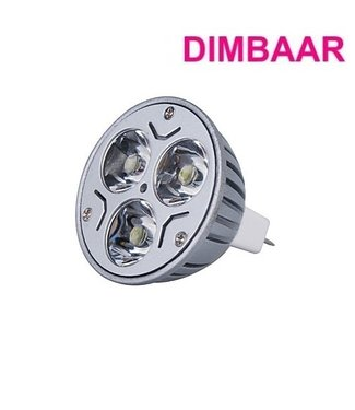LED Spot Puur Wit - 3 Watt - MR16 - Dimbaar