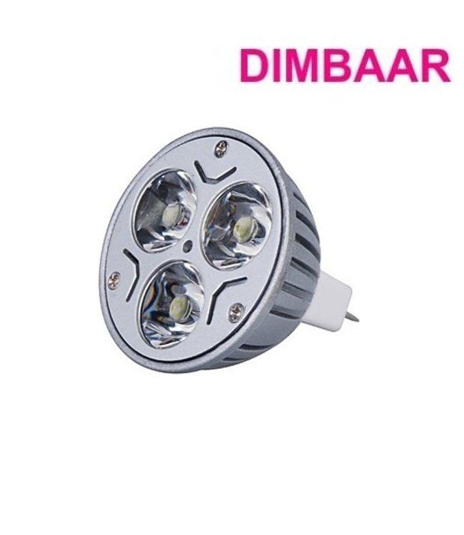 LED Spot Puur Wit - 3 Watt - MR16 - Dimbaar