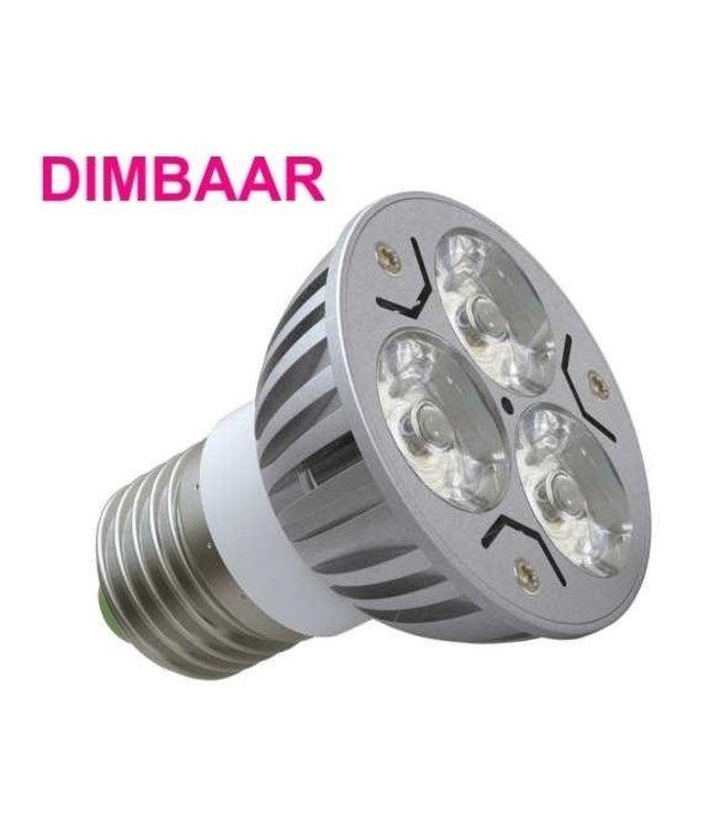 LED Spot Puur Wit - 3 Watt - E27 - Dimbaar