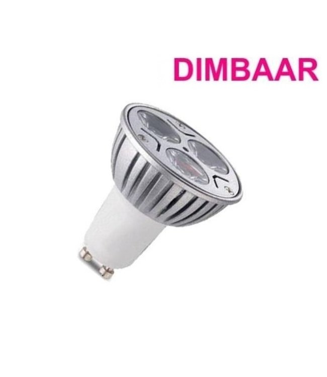 LED Spot Koel Wit - 3 Watt - GU10 - Dimbaar