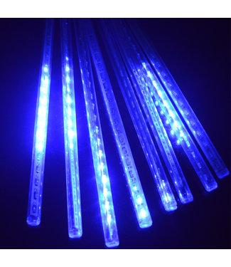 Kerst - LED Meteoorregen Buis - 20 cm - Blauw