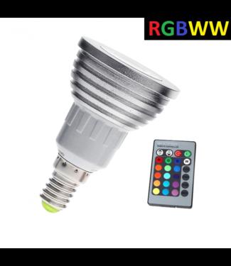 LED Spot RGB + Warm Wit - 5 Watt - E14