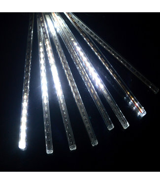 Kerst - LED Meteoorregen Buis - 20 cm -  Koel Wit