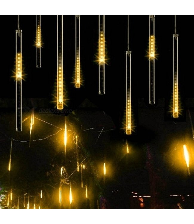 Kerst - LED Meteoorregen Buis - 50 cm - Warm Wit