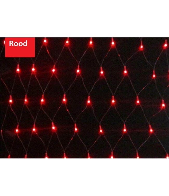 Kerstnet - 1.5 x 1.5 meter - Rood