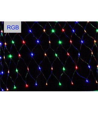 Kerstnet 1.5 x 1.5 Meter - RGB